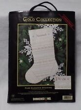 DIMENSIONS GOLD COLLECTION Textured Needlepoint Kit -9121 Pure Elegance Stocking