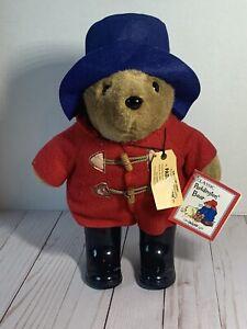 Paddington Bear Plush Bear Red Coat Blue Hat Boots Stuffed Animal VTG 1999 NWT