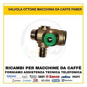 RICAMBIO Valvola a 3vie Faber PER MACCHINA CAFFE' FABER