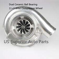GT35 GTX3576R Upgrade Universal Dual Ceramic Ball Bearing Turbo A/R .63 Vband