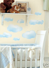 Sky BLUE WHITE CLOUDS 19 BiG Wall STICKERS Kids Room Decor Nursery Decals RM2