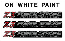 POWERSTROKE 7.3  3 DECAL SET   RED / BLACK FADE