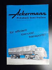 Rare ancienne double page publicitaire Ackermann Fahrzeugbau