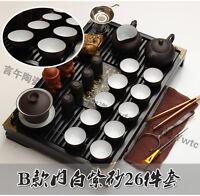 Chinese tea set yixing zisha kung fu tea sets purple clay pot tea cups tea tray