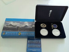 2008 HMAS SYDNEY Kormoran Silver Proof Coin, Medallion & Badge Set