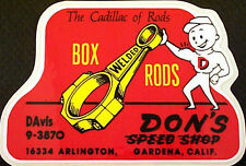 Dons Speed Shop Box Welded Rods Vintage Repro Hot Rod & Drag Racing Decals