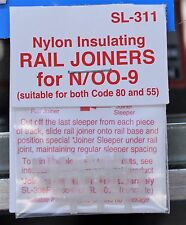 N Scale - PECO SL-311 Nylon INSULATING RAIL JOINERS For Code 80 and Code 55 Rail