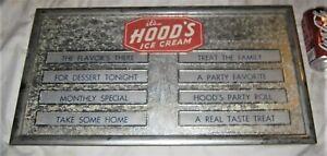 # 2 VINTAGE HOOD ICE CREAM DAIRY MENU BOARD SIGN CARDBOARD ADVERTISING COW MILK
