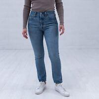 Levi's 501S Blau Damen High Rise Jeans DE 36 / W28 L28