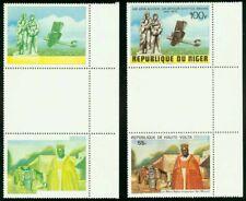 Niger 1979 Transatlantic 100fr SE-TENANT/BURKINA FASO