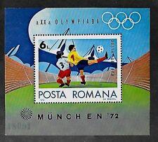 ROMANIA SC C187 NH issue of 1972 - SOCCER SOUVENIR SHEET. Sc$7.50