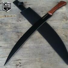 "21"" Survival Hunting Full Tang Kukri Fixed Blade Machete Wood Handle Sword"