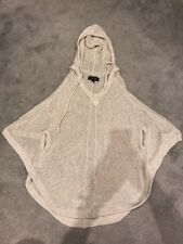 Women's House Of Dereon Chunky Knit Hooded Poncho With Arm Holes Medium