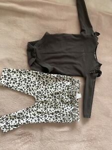 Tu Baby Girl Leopard Print Legging Outfit 6-9 Months