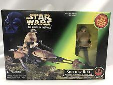 Star Wars Power of the Force Speeder Bike With Luke Skywalker SEALED