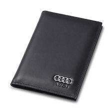 deluxe Audi Genuine Leather Passport Holder Men Passport Cover Car ID Case Gift
