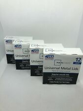 Mainstays Universal Metal Canning Lids, Regular Mouth Jars - 4 Boxes (48 Lids)