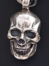 Skull Ring sterling silver gothic pendant masonic handmade skull jewelry925