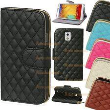 De Lujo Funda Piel Cartera Plegable Soporte Magnético Para Samsung Galaxy Models