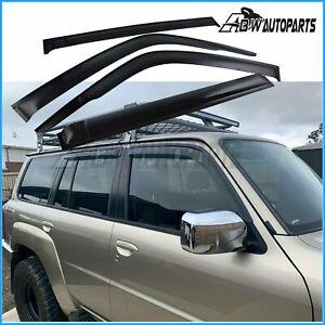 Weathershield Weather Shields for Nissan patrol GU Y61 1997 - 2020 Window Visors