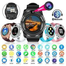 LATEST Bluetooth Smart Watch Camera SIM Slot For HTC Samsung Android Phone Gift