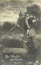 GERMANY, WWI POSTCARD. YEAR 1915, MILITARY, FELDPOST, DER WACHT AM RHEIN # 01