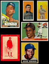 LOT of 300 Rookie BB Card REPRINTS Mantle Cobb Clemente Wagner J Robinson Ruth