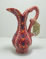 Handmade Turkish Traditional Ceramic Pottery Candy Large Jug Water Juice Art (A)