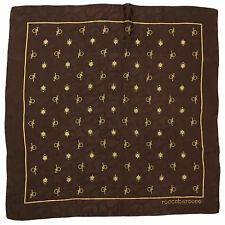 ROCCOBAROCCO Foulard Seta Grande Heavy Silk Big Scarf Signed