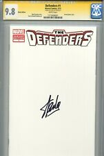 Defenders 2012 1 CGC 9.8 SS Blank Cover Stan Lee Dr. Strange Iron Fist She-Hulk