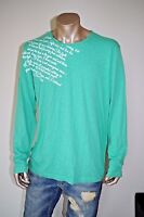 TOM TAILOR sz L / UK XL NEW MENS SHIRTS TOP T-SHIRT CASUAL LONG SLEEVE GREEN