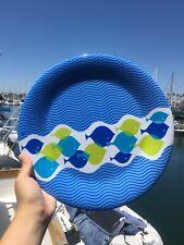 "Pack Of 8 Plastic Marine Fish Dinner Plates 11"""