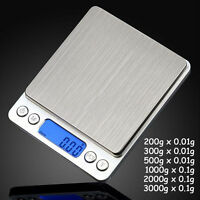 3000g X 0.1g 0.01g Digital Pocket Scale Jewelry Weight Electronic Balance Gram P