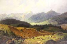 Originale künstlerische Öl-Malerei mit Kuh-Motiv