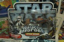 2006 Star Wars Galactic Heroes Scout Trooper and Speeder Bike
