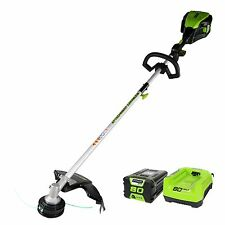 GreenWorks GST80321: 80V 16-Inch Cordless String Trimmer With Battery & Charger