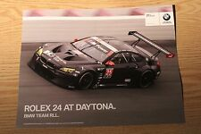 2016 IMSA BMW TEAM RLL Hero Card Le Mans Rolex 24 Hours at Daytona