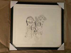 George Condo Signed numbered #6 From More Sketches If Spain For Miles Davis