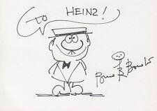 """BRUNO BOZZETTO --- """"Signor Rossi"""" - original signiert - A6#15"""