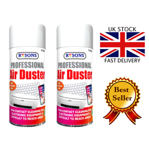 2 x Compressed Air Duster Spray Can Cleaner Dust Blower Laptop Computer Keyboard