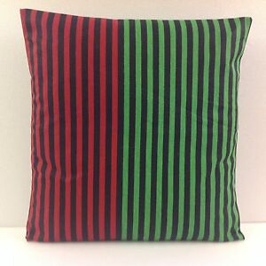 STRIPED SCATTER CUSHION COVERS BRAND NEW TRENDY GREEN BLACK RED STRIPES