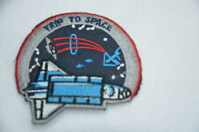 SPACE SHUTTLE TRIP ASTRONAUT 7cm  Embroidered Sew Iron On Cloth Patch Badge
