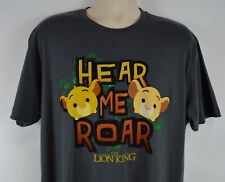 Disney Lion King Men's XL 'Hear Me Roar' Dark Gray T-Shirt, Simba & Nala