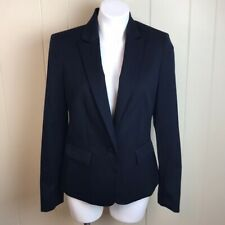 NWT Ann Klein Navy Classic Structured Career Blazer Suit Jacket Sz 10 New