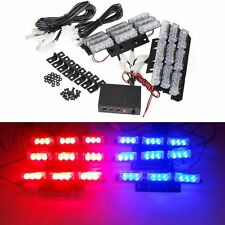 12V Car Grille Light Flashing Emergency Recovery Strobe Lamp 6 Bars Red Blue