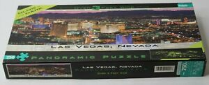 "Buffalo Puzzles 750 pc. ""Las Vegas, Nevada"" GLOW IN DARK Panoramic / Complete"