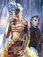 "31"" Fantasy Theater Girl Phantom Masquerade Fancy Dress Princess Fairy Painting"