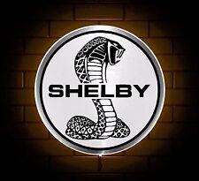 SHELBY BADGE SIGN LED LIGHT BOX MAN CAVE GARAGE WORKSHOP GAMES ROOM BOY GIFT