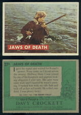 (53542) 1956 Topps 27A Davy Crockett Green Back Jaws Of Death-EX