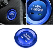 Keyless Engine Push Start Button Blue Cap Decor Ring For Cadillac Chevy GMC,etc